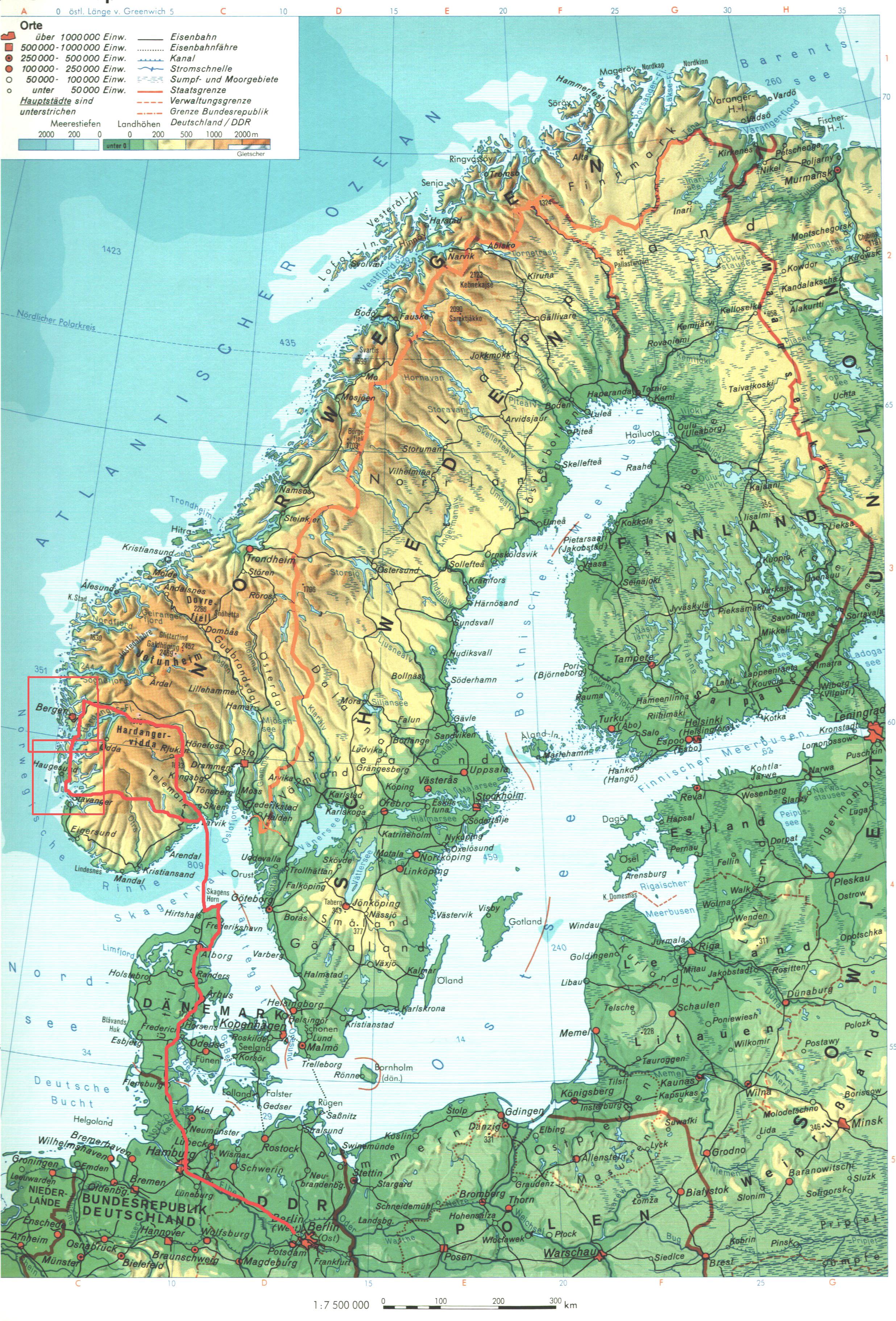 Karte Norwegen Schweden.Karte Dänemark Schweden Norwegen My Blog